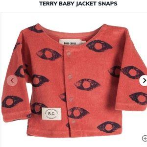 BOBO CHOSES TERRY BABY CARDIGAN JACKET